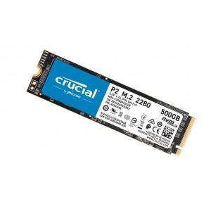 Crucial P2 500GB M.2 (2280) NVMe PCIe SSD - QLC NAND 2300/940 MB/s 300TBW 1.5mil hrs MTBF SMART & TRIM Acronis True Image Cloning 5yrs