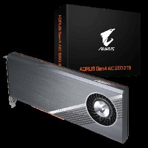 Gigabyte AORUS Gen4 AIC SSD 2TB - PCI-e 4.0, 4x 500GB SSD, Seq. Read ~15,000 MB/s, Seq. Write ~9,500 MB/s,