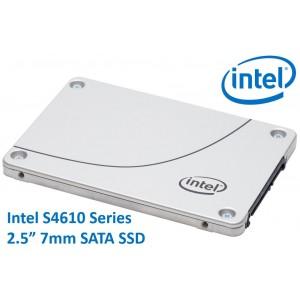 Intel DC S4610 2.5' 7.68TB SSD SATA3 6Gbps 3D2 TCL 7mm 550R/510W MB/s 90K/35K IOPS 3xDWPD 2 Mil Hrs MTBF Data Center Server 5yrs Wty