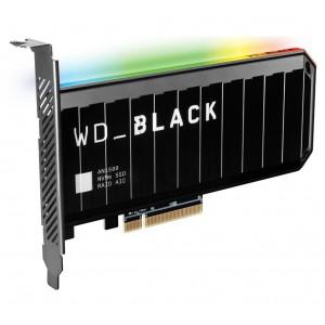 WD Black AN1500 4TB RGB NVMe SSD AIC - 6500MB/s 4100MB/s R/W 780K/710K IOPS 1.75M Hrs MTBF RAID PCIe3.0 Add-in-Card 3D-NAND 5yrs