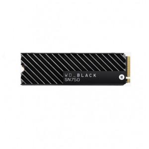 Western Digital WD Black SN750 1TB NVMe SSD 3430MB/s 3000MB/s R/W 600TBW 515K/560K IOPS with Heatsink M.2 2280 PCIe Gen 3 1.75mil hrs MTBF 5Yrs Wty