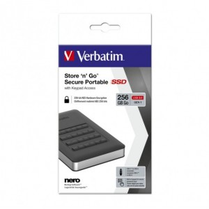Verbatim USB 3.1 Store'n'Go Secure SSD w/Keypad Access 256GB - Black