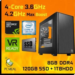 Intel Core i3 9100F 1TB+120GB SSD 8GB GTX 1660 6GB Gaming Computer Desktop PC