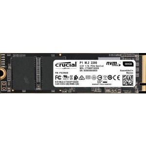 Crucial P1 500GB M.2 NVMe PCIe 3.0 X4 Internal Solid State Drive SSD 1900MB/S CT500P1SSD8