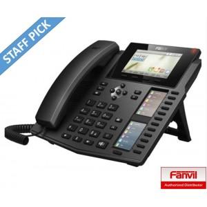 Fanvil X6 Enterprise IP Phone - 4.3' (Video) Colour Screen, 20 Lines, 60 x DSS Buttons, Dual Gigabit NIC, Optional Bluetooth via BT20   (LS)