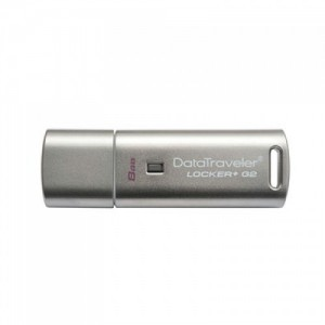 Kingston 8GB DataTraveler Locker + G3 USB 3.0 Flash Drive DTLPG3 Cloud Encrypted