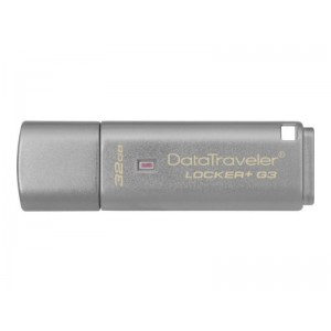 Kingston 32GB DataTraveler Locker + G3 USB 3.0 Flash Drive DTLPG3 Cloud Encrypted