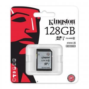 Kingston 128GB Enhanced SDHC Class 10 Memory Card SD10VG2/128GB