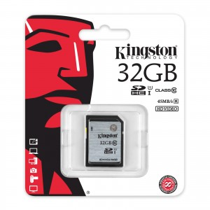 Kingston 32GB Enhanced SDHC Class 10 Memory Card SD10VG2/32GB