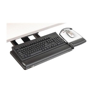 3M AKT180LE Sit to Stand Easy Adjust Keyboard Tray with Adjustable Keyboard and Mouse Platform