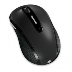 Microsoft Wireless (IR) Mobile Notebook Mouse 4000, BlueTrack, Scroll, Tilt, Black
