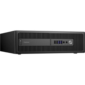 REFURB HP EliteDesk 800 G2 SFF Intel i5-6500 / 8GB / 240GB SSD + 500GB HDD / DVD / W10P / 1YR Return To MMT/  No Keyboard and Mouse (Use HPKEY+MOUSE)