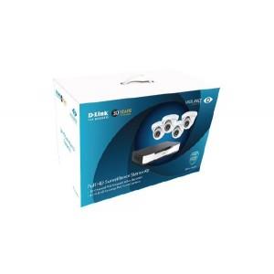 D-LINK DNR16-4802-4 Full HD Surveillance Starter Kit (16 Ch NVR with 4x Full HD Cameras)