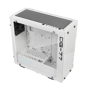 EVGA DG-77 Matte White Mid-Tower, 3 Sides of Tempered Glass, Vertical GPU Mount, RGB LED and Control Board, K-Boost, Gaming Case