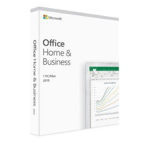 Microsoft Office 2019 Home & Business, Retail Software, 1 User - Medialess V2