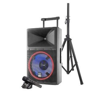 Altec Lansing LIGHTNING High-power PA speaker system Bluetooth USB SD Speaker stand Retractable handle & Wheels 2200W Peak power
