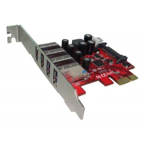 Shintaro PCIE USB3.0 x 4 Port Adapter (LP & FH brackets included)