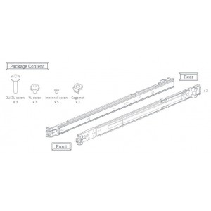 Synology Rail Kit RKS1317 (Sliding) for 1U, 2U and 3U NAS Systems