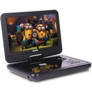 "Laser Portable Car Kids DVD Player 10"" With Bonus Pack DVD-PT-10B"