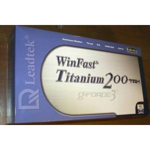 Leadtek WinFast Titanium 200 TDH 64MB GPU AGP Graphics Video Card