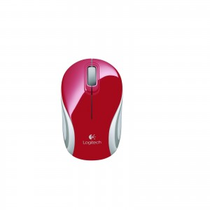 Logitech M187 Wireless Mini Mouse - Red