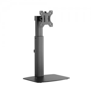 Brateck Single Screen Pneumatic Vertical Lift Monitor Stand Fit Most 17'-27' Flat and Curved Monitors Up to 7 kg per screen VESA 75x75/100x100