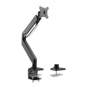 Brateck Single Monitor Heavy-Duty Gas Spring Aluminum Monitor Arm Fit Most 17'-35' Monitor Up to 10kg per screen