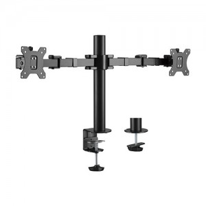 Brateck Dual Monitors Affordable Steel Articulating Monitor Arm Fit Most 17'-32' Monitors Up to 9kg per screen