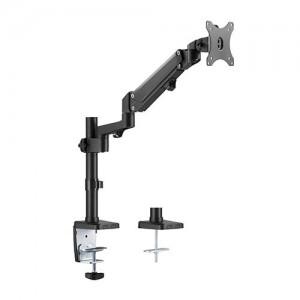 Brateck Single Monitor Heavy-Duty Aluminum Gas Spring Monitor Arm Fit Most 17' - 35' Monitors Up to12kg per screen VESA 75x75/100x100