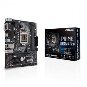Asus PRIME H310M-A R2.0 Intel LGA-1151 mATX motherboard, DDR4 2666MHz, SATA 6Gbps and USB 3.1 Gen 1 HDMI/DVI-D/D-Sub, M.2 Support