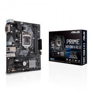 ASUS PRIME H310M-K R2.0 Intel LGA-1151 mATX motherboard, DDR4 2666MHz, SATA 6Gbps and USB 3.1 Gen 1 DVI-D/D-Sub
