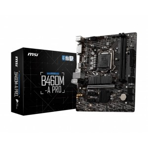 MSI B460M-A PRO LGA1200 10th Gen mATX 2xDDR4 3xPCIE 1xM.2 RAID LAN 6xSATAIII 1xHDMI 1xDVI-D 6xUSB3.2 6xUSB2.0