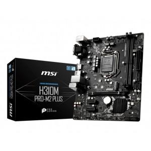 MSI H310M PRO-M2 Plus  mATX MB - S1151 9Gen 2xDDR4 3xPCI-E 1xM.2 4xUSB3.1 6xUSB2.0 1xDVI-D 1xVGA 1xHDMI (LS)