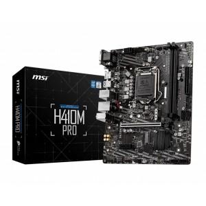MSI H410M-A PRO LGA1200 10th Gen mATX 2xDDR4 2xPCIE 2xM.2 LAN 4xSATAIII 1xHDMI 1xDVI-D 4xUSB3.2 6xUSB2.0