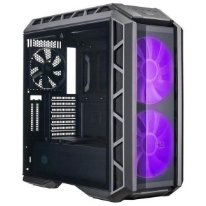 Cooler Master MasterCase H500P Mid Tower Case Tempered Glass Window 2x 20cm RGB Fans Black MCM-H500P-MGNN-S00