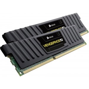 Corsair Vengeance Low Profile 8GB (2x4GB) DDR3 1600MHz C9 Desktop Gaming Memory Black