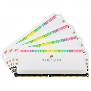 Corsair Dominator Platinum RGB 64GB (4x16GB) DDR4 3600MHz C18 1.35V DIMM XMP 2.0 White Heatspreaders Desktop PC Gaming Memory