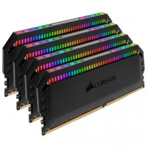 Corsair Dominator Platinum RGB 128GB (4x32GB) DDR4 3200MHz C16 1.35V DIMM XMP 2.0 Black Heatspreaders Desktop PC Gaming Memory
