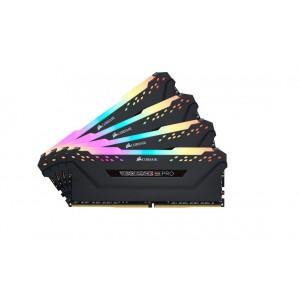 Corsair Vengeance RGB PRO 128GB (4x32GB) DDR4 4000MHz C18 18-22-22-42 1.35V 288Pin DIMM XMP 2.0 Anodized Aluminum Desktop Gaming Memory