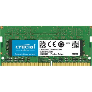 Crucial 16GB (1x16GB) DDR4 SODIMM 2666MHz CL19 Single Ranked Notebook Laptop Memory RAM ~CT16G4SFD8266