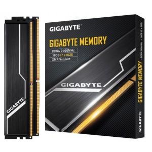 Gigabyte Gaming Memory 16GB (2x8GB) DDR4 2666MHz C16 1.2V 16-16-16-35 XMP 2.0 Dual Channel Kit Aluminum Black Heatsinks PC Desktop RAM