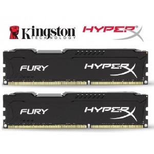 Kingston HyperX Fury 8GB (2x4GB) DDR4 UDIMM 2666MHz CL16 1.2V Unbuffered ValueRAM Double Stick Kit Gaming Desktop PC Memory ~HX426C15FBK2/8