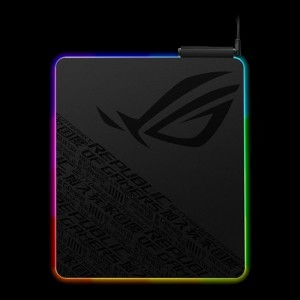 Asus ROG Balteus Gaming Mouse Pad (NH02) 15-Zone Aura Sync, Portrait Hard Surface USB Passthrough