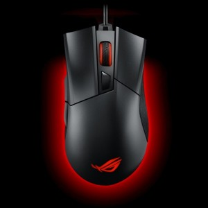 ASUS ROG Gladius II P502  Gaming Mouse FPS easy-swap switch socket Aura Sync RGB lighting and DPI target thumb button