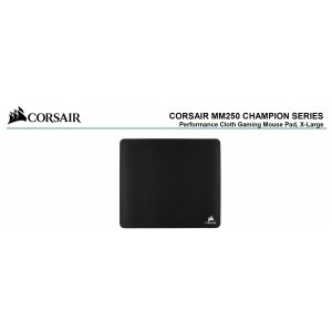 Corsair MM250 Champion Series X-Large Anti-Fray Cloth Gaming Mouse Pad.  450x400mm 2 Years Warranty (LS)