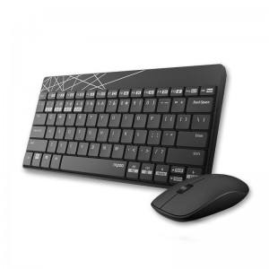 RAPOO 8000M Compact Wireless Multi-mode Bluetooth, 2.4Ghz, 3 Device Keyboard and Mouse Combo