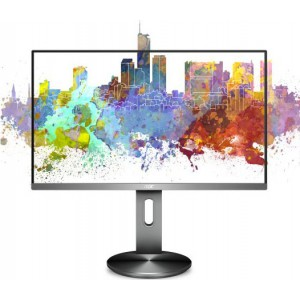 AOC 27' AH-IPS 5ms Full HD Frameless Business Monitor. USB 3.0 Height Adjust, Pivot, Swivel, VGA, HDMI, DP, Speaker, VESA100. Flicker FREE & Low Blue