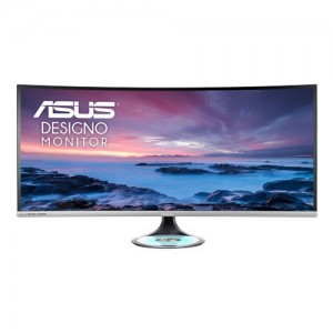 """ASUS 37.5"""" Designo Curve MX38VC Monitor Uwqhd IPS Eye Care with Qi Charging"""