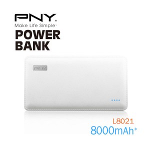 PNY (L8021) 8000mAh PowerPack Universal Rechargeable Battery Bank with output 2.1A, 5V