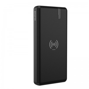 EFM 15W Wireless Portable 10000mAh Power Bank Black- With 15W Ultra Fast Charge and Wireless Qi Charging, Compact, Lightweight Design, Dual USB Socket